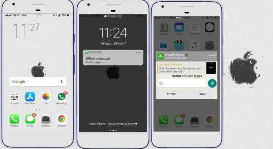 Cara Merubah Tampilan Oppo Smartphone Menjadi iPhone 2019 Work 100