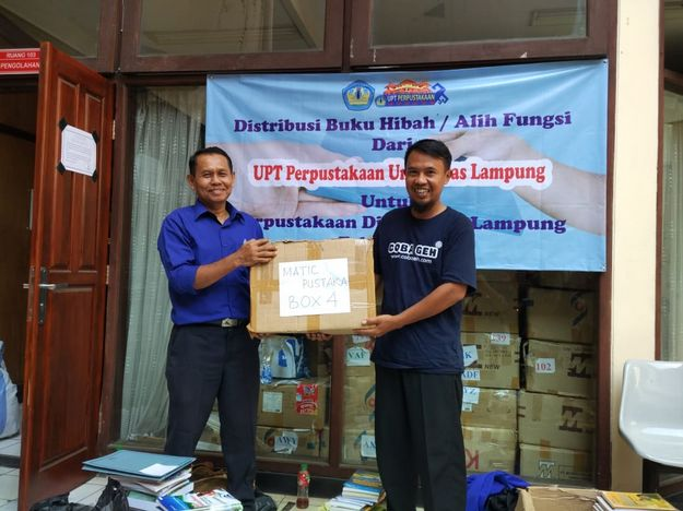 Matic Pustaka Pringsewu Dapat Hibah Buku Dari Perpustakaan Universitas Lampung Infoyay