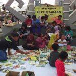 Matic Pustaka adakan baca buku gratis di pasebu Pagelaran Pringsewu